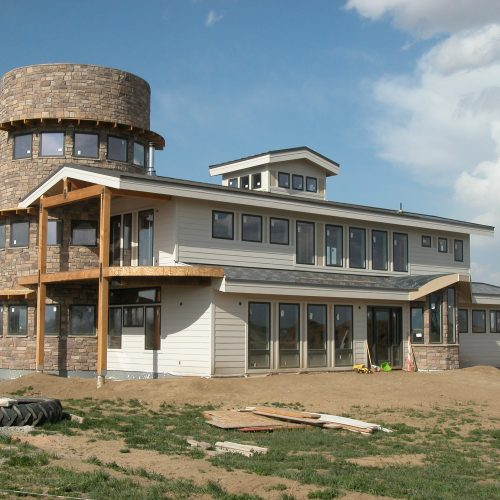 Solar Barn: Exterior from SW